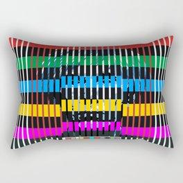 Barcode 007A Rectangular Pillow