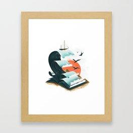 Waves of Knowledge Framed Art Print