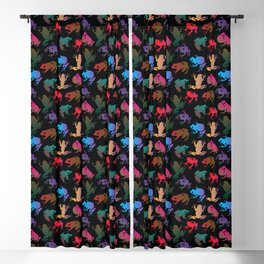 frogs Blackout Curtain