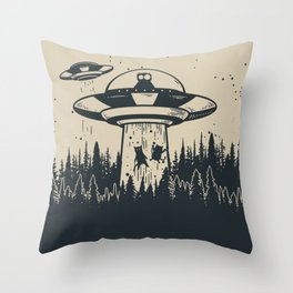 Unidentified Feline Object Throw Pillow