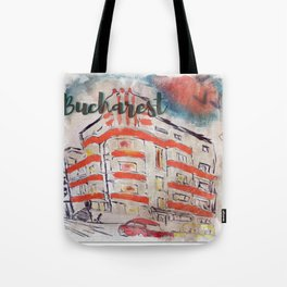 bucharest street Tote Bag