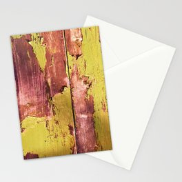pea and rusty pink peel Stationery Cards
