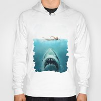 jaws Hoodies featuring JAWS by Smart Friend