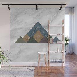 Geometric Mountains Wall Mural