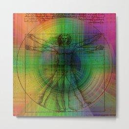 Vitruvian man Obsession Metal Print