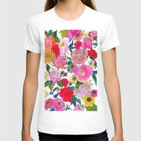 peonies T-shirts featuring Peonies & Roses by Marcella Wylie