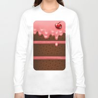 pie Long Sleeve T-shirts featuring Pie by Rejdzy