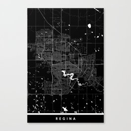Regina - Minimalist City Map Canvas Print