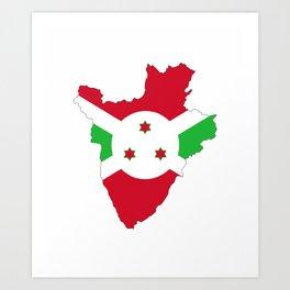 burundi flag map Art Print