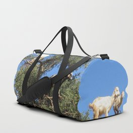 Goats in a tree Duffle Bag