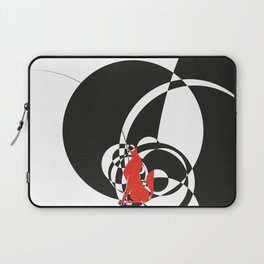 red wolf by black circles overlap Laptop Sleeve