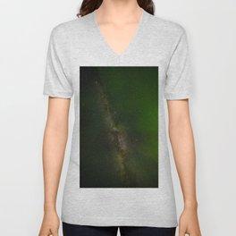 Aurora Borealis Milky Way Unisex V-Neck