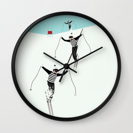 Ski Freshies Wall Clock