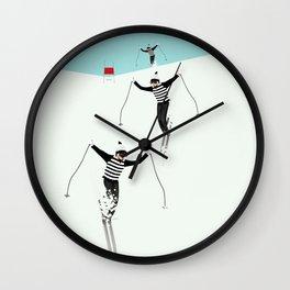 Ski Freshies Wall Clock