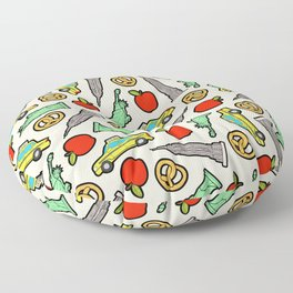 New York, New York Pattern Floor Pillow