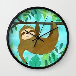 Cute Sloth Wall Clock