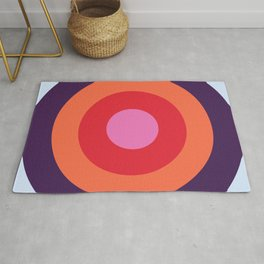 Lehua - Classic Colorful Abstract Minimal Retro 70s Style Graphic Design Rug
