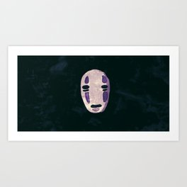 Mysterious No Face Art Print