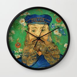 Portrait of Joseph Roulin by Vincent Van Gogh, 1889 Wall Clock