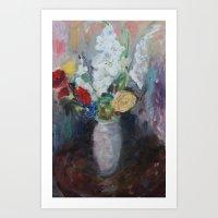 Bright Flowers Art Print