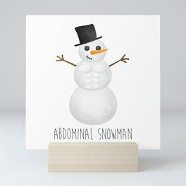 Abdominal Snowman Mini Art Print