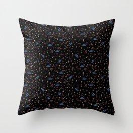 Neon RETRO Pattern Throw Pillow