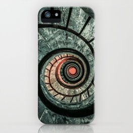 Pretty green spiral staircase iPhone Case