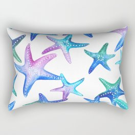 Watercolor Starfish Rectangular Pillow