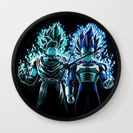 Blue God Warriors Wall Clock