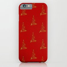 Gold Christmas Trees Slim Case iPhone 6s
