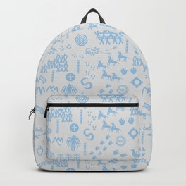 Peoples Story - Blue on Grey Backpack