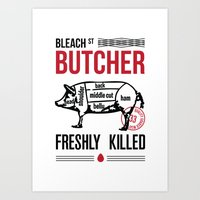 butcher billy Art Prints featuring Butcher by rodehed
