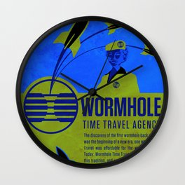 Time Travel Agency Wall Clock