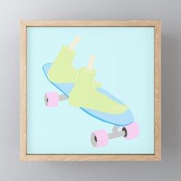 skateboarding til death Framed Mini Art Print