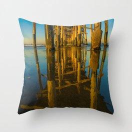 Mirror Under the Pier Throw Pillow