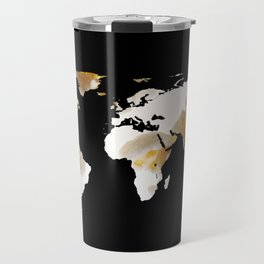 World Map Silhouette - Popcorn Travel Mug