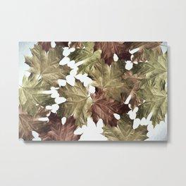 Faded Autumn Leaves Metal Print