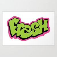 fresh prince Art Prints featuring Fresh by MartiniWithATwist