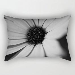 Black Daisy Rectangular Pillow