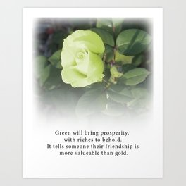 Green Rose  - Tea with Roses Art Print