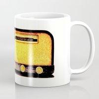 radio Mugs featuring Old Radio by Mr and Mrs Quirynen
