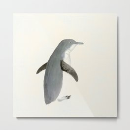 The Penguin waddle Metal Print