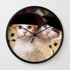 cateou twins Wall Clock