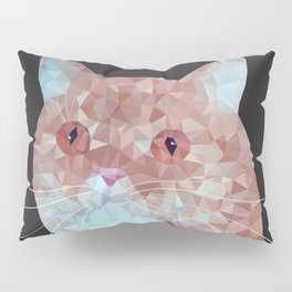 Low poly red cat 1 Pillow Sham