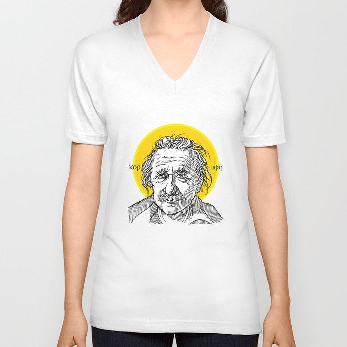 St. Einstein Unisex V-Neck