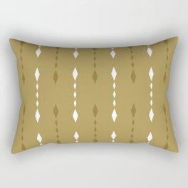Tribal Prints, Mustard Yellow, Boho Wall Art Rectangular Pillow