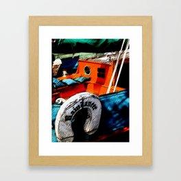 Painted Boat Framed Art Print