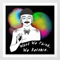 Hipster Buddha Art Print