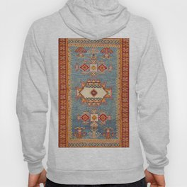 Moroccan 19th Century Authentic Colorful Baby Blue Vintage Patterns Hoody