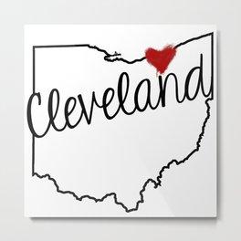Heart Cleveland Metal Print
